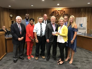 TOMBALL REGIONAL HEALTH FOUNDATION IS PLEASED TO GRANT KLEIN ISD FUNDS FOR THE HEALTHY LIVING PROGRAM